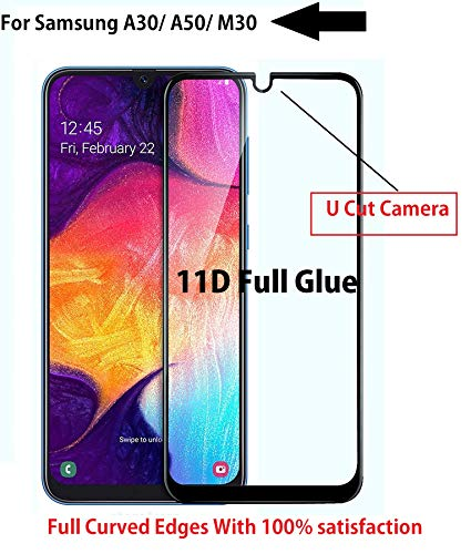 JGDWORLD Samsung Galaxy A50 / A30 (2019) 11D Full Edge to Edge Tempered Glass Screen Protector for Samsung Galaxy A50 / A30 (2019)