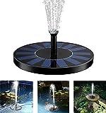 TR Turn Raise Solar Alimentado Pájaro Baño Fuente Bomba 1.4 w Solar Powered Panel Kit Bomba de Agua para Estanque, Piscina, Decoración de Jardín y Patio de Riego