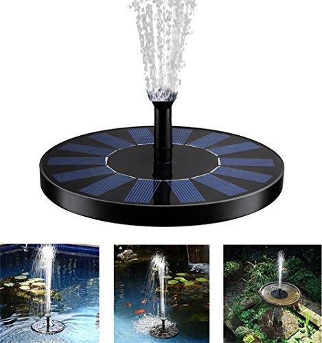 Especificación:  El panel solar: 7V/1.4 w Bomba de agua hecha salir: c.c. 4.5-10V Flujo máximo: 160/h Altura de rociadura máxima: los 50cm Cuatro clases de inyectores atadas para el cambio Tamaño del panel (grueso del diámetro x): 16 x 1.2 cm La bomb...