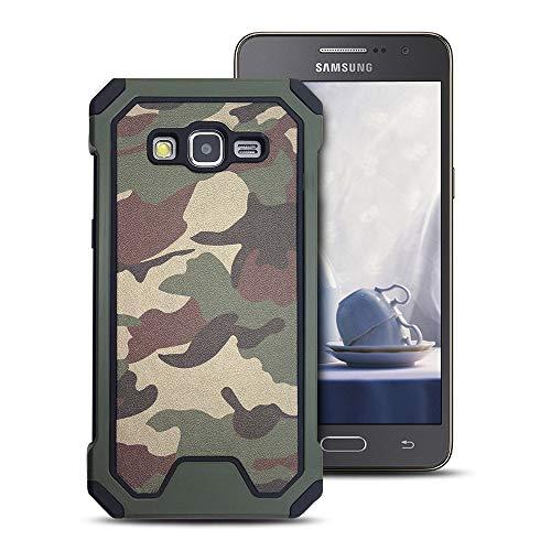 MOEVN Armor Funda para Samsung Grand Prime, Galaxy Grand Prime Carcasa Camuflaje PC + TPU 2 en 1 Silicone Cover Protección Duro Caso Choque Amortiguador Antigolpes Ultrafina Shell Case