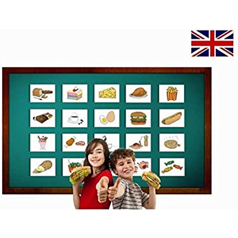 Food and Drinks Flashcards - English Vocabulary Cards