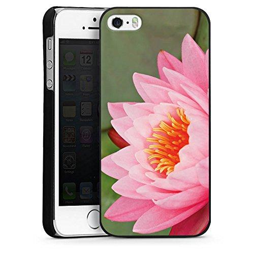 Apple iPhone 6 Housse Étui Silicone Coque Protection Nénuphar Fleur Fleur CasDur noir