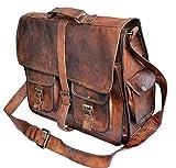 Jaald pour homme cuir véritable Grande sacoche pour ordinateur portable Messanger Sac pour ordinateur portable jusqu'à 40 cm Sac pour MacBook