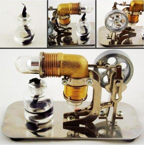 sunnytechâ ® Mini Heißluft-Stirlingmotor Motor Modell Educational Spielzeug Kits Strom HA001