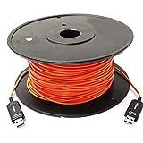 Cablematic USB 3.0 Aktiv-Verlängerungs-Kabel LWL-100m