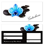 Pack of 10 Gift Voucher Cards (Orchid 648) – Voucher Cards Vouchers For Wellness, Relaxation, Rest or Cosmetic and Travel