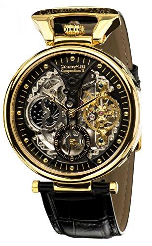 Calvaneo 1583 'Compendium Gold' High Luxury Orologio automatico tipo squelette