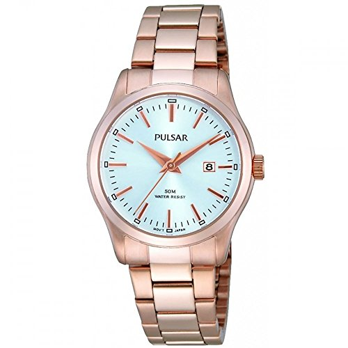 Pulsar by Seiko Rose Gold Womens Watch 50m Date