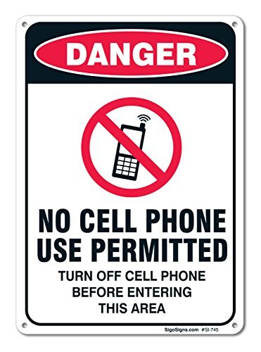 Rustic metal Sign post no Cell Phone use Permitted Sign aluminum Wall Art Plaque decorazione
