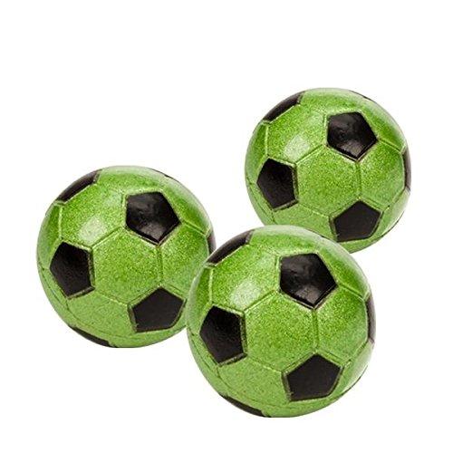 240150 Star Kicker Flummi, Fussball grün, ca. Ø 45mm, 1 Stück