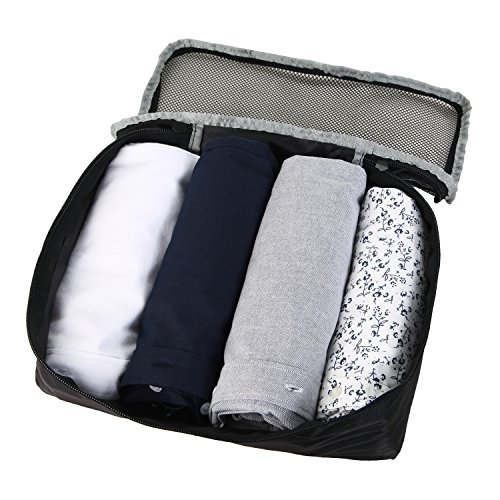 Fafada 5tlg Packtaschen Set Koffer Organizer Packwurfe Kleidertaschen Reisegepack Schwarz
