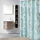 YAOHAOHAO Duschvorhang, Wasserdichte Dicker Schimmel verhindern Schattierung Material aus Polyester Duschvorhänge Verdickt, Warm (Größe: 200 * 200 cm)