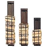 CLP Kaminholzständer Houston aus Holz | Kaminholzregal für die Wand | Brennholzständer mit Eisenstreben | In Verschiedenen Größen erhältlich 22 x 23 x 93 cm