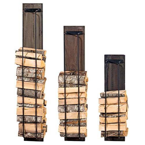 Kaminholzständer HOUSTON aus Holz Kaminholzregal für