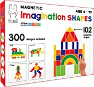 Play Poco Magnetic Imagination Shapes - with 102 Magnetic Shapes, 2 Magnetic Boards, 300 Design Booklet, 2 Dis
