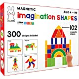 Play Poco Magnetic Imagination Shapes - with 102 Magnetic Shapes, 2 Magnetic Boards, 300 Design Booklet, 2 Display Stands