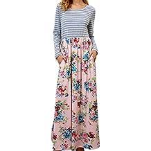 BBestseller-Vestidos Vestidos Mujer Otoño Larga sección Mujer Casual Playa de Impresión Retro de Mujeres