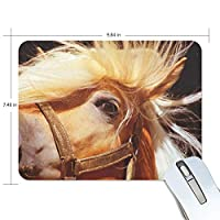 FANTAZIO Mouse Pad Horse Head Thick Computer Keyboard Mouse Mat Non-Slip Rubber Base Mouse Pad for PC Gaming or Working