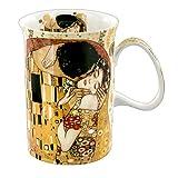 Carmani - Tazza classica decorata con 'Il bacio' di Gustav Klimt 350ml