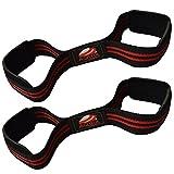 Manschettenknöpfe Gewichtheber AQWA Power Gym Wrist Strap Crossfit Wraps-Grip Handschuhe-Bodybuilding