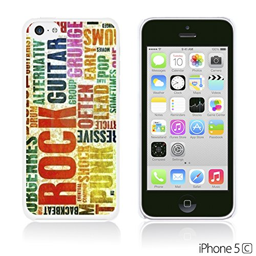 OBiDi - Typography Pattern Hard Back Case / Housse pour Apple iPhone 5C - Life Is Retro Typography