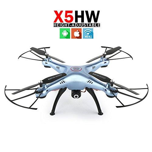 Nueva Syma x5hw FPV RC robot con WiFi Camara 2.4GHz 4CH RC helicóptero quadcopter OVNI sin cabeza con Hover funcion (Azul)