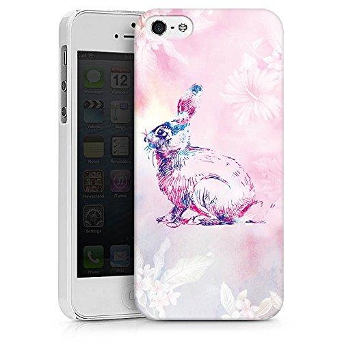 Apple iPhone X Silikon Hülle Case Schutzhülle Hase Häschen Bunny Hard Case weiß