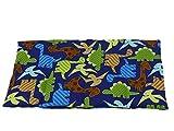 Fitzibiz Körnerkissen Dinos aus 100% Baumwolle und Dinkelfüllung, Dinodruck 39x20cm (Dinkel-, Raps-, Weizen- oder Kirschkernfüllung)