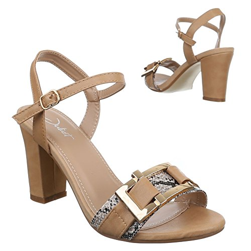 2ca777e0a9cfe3 Damen Schuhe 665 SANDALEN PUMPS SANDALETTEN Camel pRar4m ...