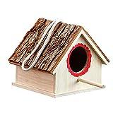 Lineary-BH Casa dell'alimentatore del Giardino Creativo for Esterni Decorazione Bird House Retro Cottages Bird House Birdhouse di Legno all'aperto for Bird Bird Cabin Cabin Scatola di nidificazione