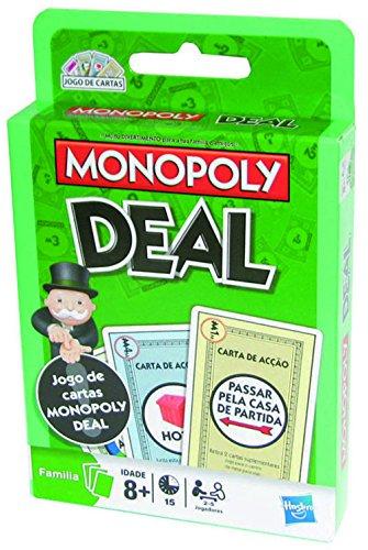Hasbro 02231393 - Juego cartas Monopoly versión portugués