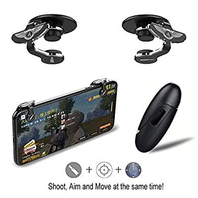 Fortnite PUBG Mobile Controller – LAWOHO Game Mobile Controller Game Trigger Sensitive Shoot and Aim Keys L1R1 Gamepad for 4.5-6.5inch Android IOS Shooting Games Battle Royale/Fortnite/PUBG