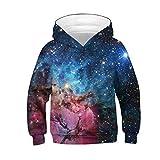 i-uend 2019 Baby Mantel - Teen Kinder Mädchen Jungen Galaxy Fleece Print Cartoon Sweatshirt Tasche Pullover Hoodie für 4-13 Jahre