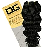 Dream Girl 14 inch Colour 1 French Deep Curl Hair Extensions
