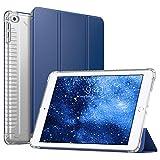 MoKo Case for Apple iPad 9.7 Inch 2018/2017(iPad5/iPad6/iPad Air/iPad Air 2 Tablet, Slim Smart-Shell Stand Cover with Corner Airbag Protector and Soft TPU Back, Navy Blue(with Auto Wake/Sleep)