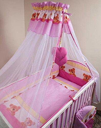 8Stück Baby Bettwäsche Set mit Rundum-Bumper für 140x 70cm Kinderbett-Muster 8 (8 Stück Bettwäsche-set)