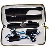 Best CCbeauty Hair Cutting Shears - #3 Blue scissors: CCbeauty Barber Supplies Equipment 1Set Review