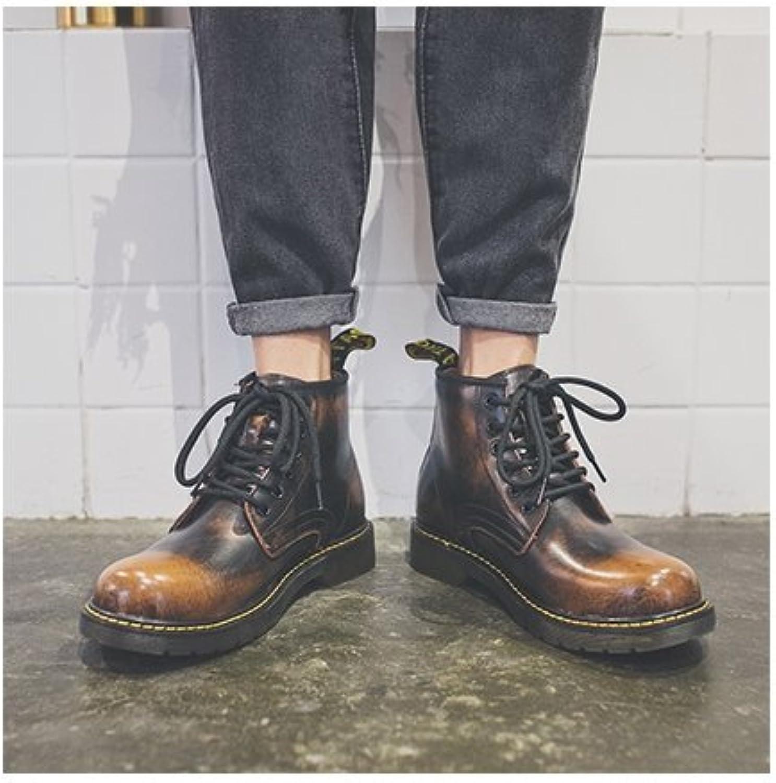 HL-PYL-Negro botas botas cortas, Moda grandes botas de barbecho y ayudar Ma Dingxue,40,Marrón oscuro