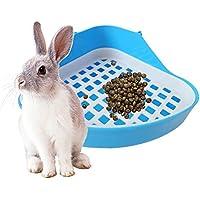 AOLVO - Cuenco para Inodoro para Mascotas, Bandeja de Orinal para pequeños Animales, Caja de Esquina extraíble para Conejo, hámster, Gato, Chinchilla
