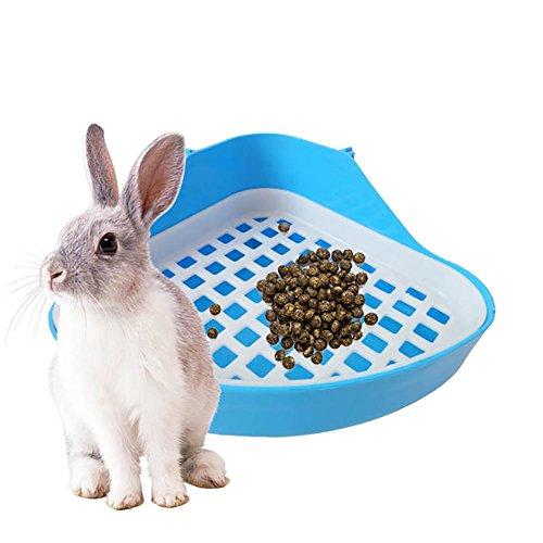 Pawaca Kaninchenkäfig Katzenklo Töpfchen, Ecke Kitty Katzenklo,Ecktoilette Kleintier Katzenklo für Hamster/Kaninchen/Frettchen/Katze Sauber Critter