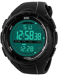 katek imperméable phosphorescent en Sportif LED lumineux montre de poignet numérique bande de femmes montre de sport noir