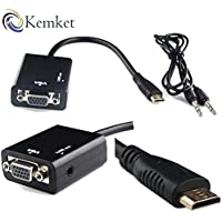 Mini HDMI maschio alla femmina del VGA Audio / Video