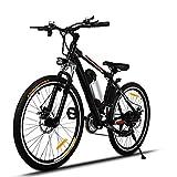 Speedrid Elektrofahrrad e Bike 26Zoll E- Bike Mountainbike, 25-50km/h Meilen Kilometerstand, 36V 8AH Abnehmbarer Akku and 21 Gang Getriebe