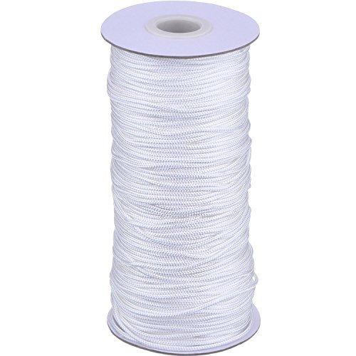 109 Yard/ Roll Weiß Geflochten Lift Schatten Schnur für Aluminium Blind Schatten, Gartenbau und Kunsthandwerk, 1,8 mm (Plissee-grenze)
