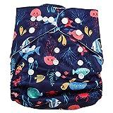 Swim Diaper Baby Infant Snap assorbente lavabile Costume da bagno Pannolino Riutilizzabile Swim Nappy per le ragazze ragazzi Lezioni di nuoto, Taglia unica Tutto(#5)