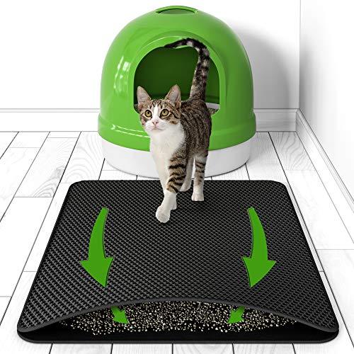 BELISY Katzenklo Matte Hygieneheld - 75x55 cm - Unterlage für Katzentoilette mit Waben Struktur -...