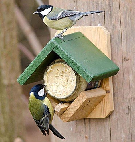 CJ Wildlife 983331215 Gartenvögel-Erdnussbutterhaus aus FSC-Holz mit Erdnussbutter