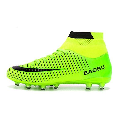LANSEYAOJI Zapatos de fútbol Hombre Niños AG Spike Profesionales Botas de  Fútbol Aire Libre Atletismo Zapatos ab2b8ad34bc1b