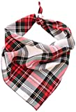 Pet Wachhund, Boutique Alfies Plaid Bandana für Hunde, Medium/Large, Rot
