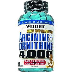 51zAneMu1sL. SS300  - Weider Arginine + Ornithine 4000 180 Capsules